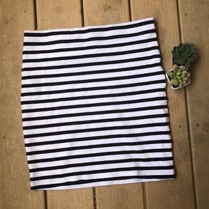 Katherine Barclay Striped Pencil Skirt